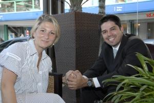 O casal Daniele Maluf e Marcelo Gueldine.