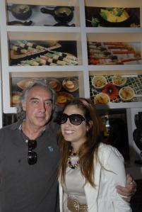 Sérgio Pagano com Bianca.