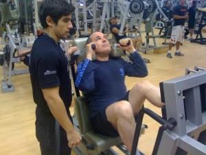 Eu treinando com André