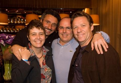 Os chefs Roberta Sudbrack, Emmanuel Bassoleil, Ecio Cordeiro e Claude Trogrois